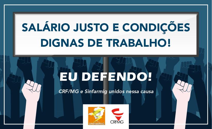 CRF/MG e Sinfarmig lançam campanha por salário justo e condições dignas de trabalho